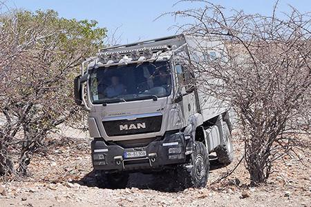 Test drive in Namibia